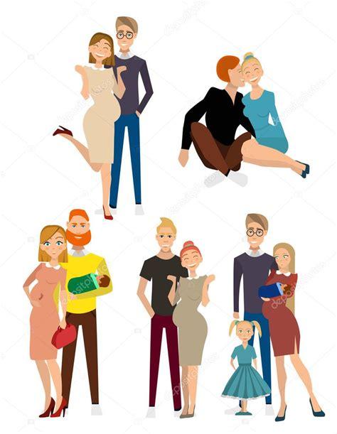 diferentes tipos de famílias — Vetor de Stock © ladykristy ...