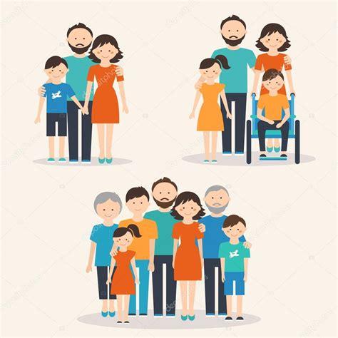 Diferentes tipos de famílias — Vetores de Stock ...