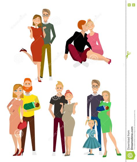 Different Kind Of Families Stock Vector - Image: 76562448