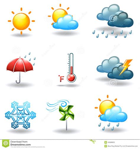 Different Weather Conditions Stock Vector   Image: 43088833