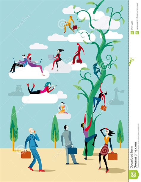 Digital Transformation Stock Illustration   Image: 50135466