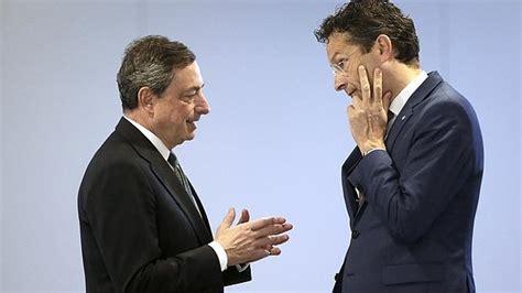 Dijsselbloem defiende a Draghi de los ataques alemanes