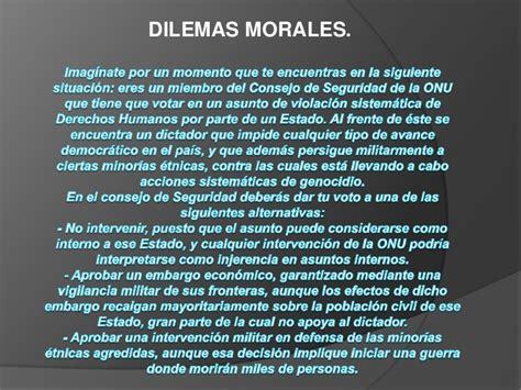 Dilema morales en ppt ... ecc. 19 de feb 11