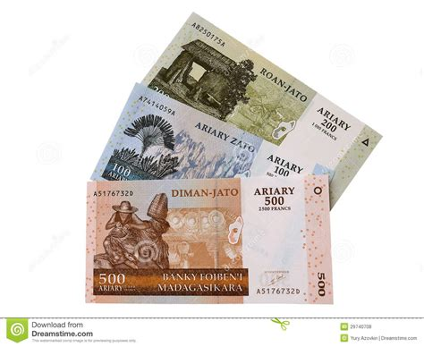 Dinero De Madagascar Fotos de archivo libres de regalías ...