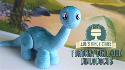 Dinosaur model: How to make a Diplodocus cake topper ...