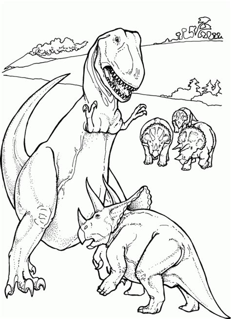 Dinosaur: Tyrannosaurus Rex   Free Printable Coloring Pages