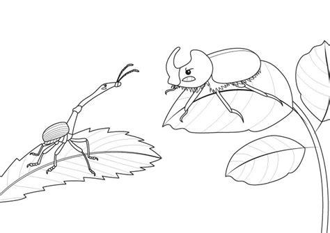 ¿Dinosaurio o insecto?: dibujo para colorear e imprimir