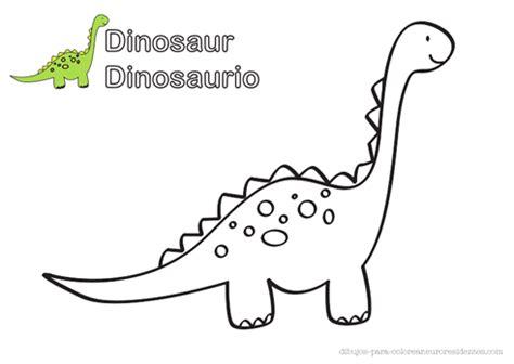 Dinosaurio para colorear - Manualidades