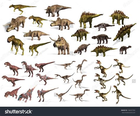 Dinosaurs Collection Stock Photo 138257765 : Shutterstock