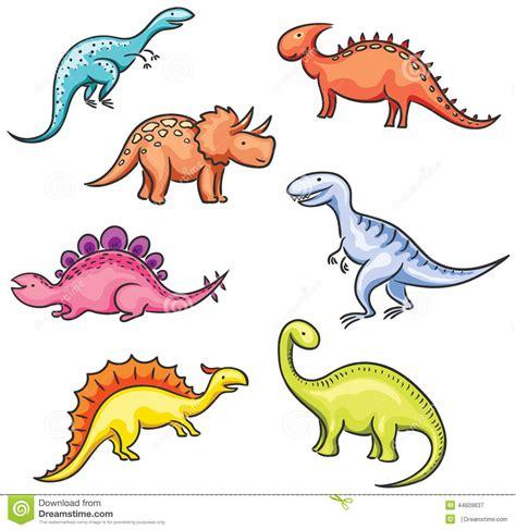 Dinossauros Coloridos Dos Desenhos Animados Ilustração do ...