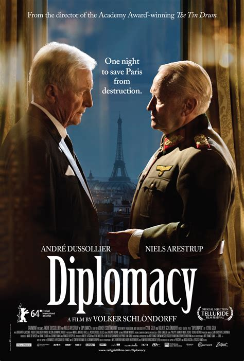 DIPLOMACY   a film by Volker Schlöndorff