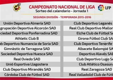 Directo: sorteo del calendario de la Liga 2015 2016