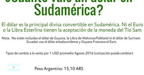 Directorio de Micros: ¿Cuanto vale un dólar en Sudamérica ...
