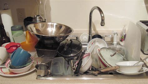 dirty dishes in sink - Sinks Ideas