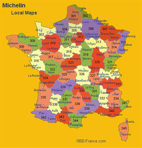 Discover France With Michelin's Local Maps - France Travel ...