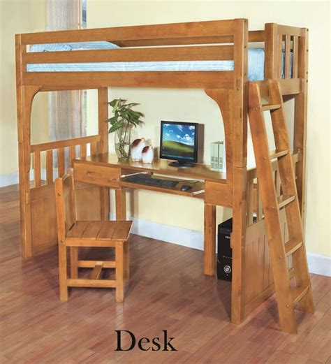 Discovery World Furniture Twin over Desk Honey Convertible ...