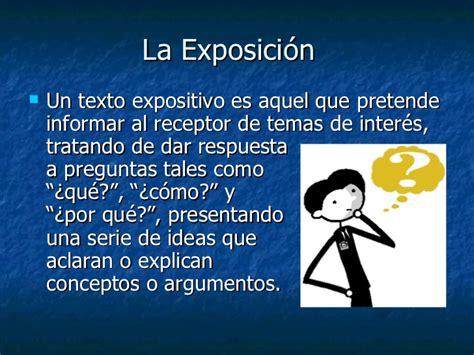 Discurso Expositivo, formas básicas