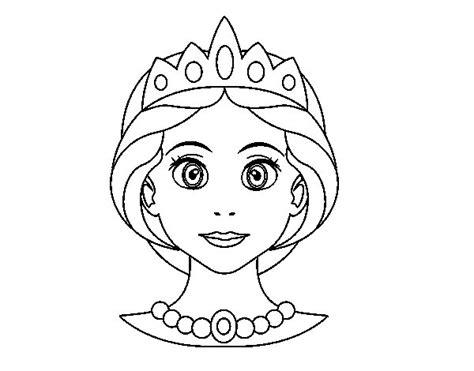 Disegno di Faccia principessa da Colorare   Acolore.com