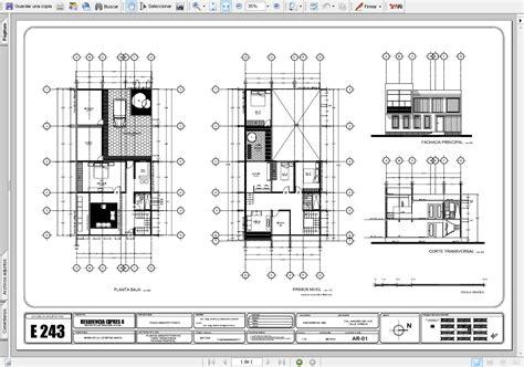 Diseñar un plano en autocad.