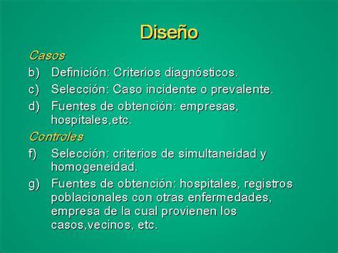 Diseño de casos y controles - Monografias.com