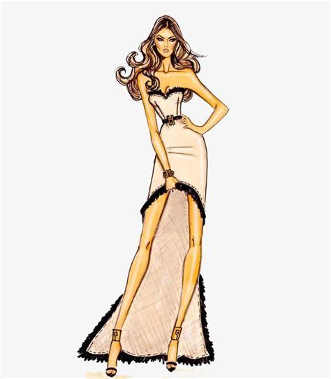 Diseño De Moda, Modelo, Pintado A Mano, Ropa Imagen PNG ...