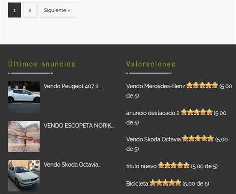Diseño de página web de anuncios clasificados de segunda ...