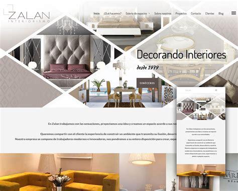 Diseño de página web Zalan Interiorismo   Bluefactory Studios