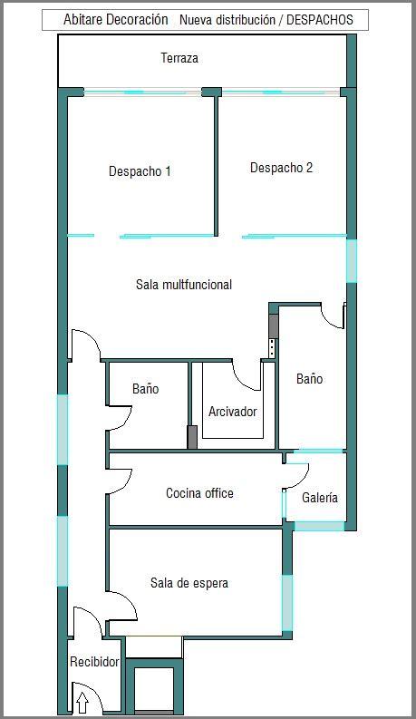 DISEÑO DE PLANOS ONLINE,una vivienda transformada en despacho