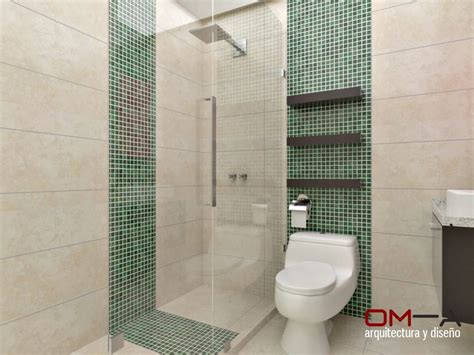 Diseño interior en apartamento, espacio baño secundario ...