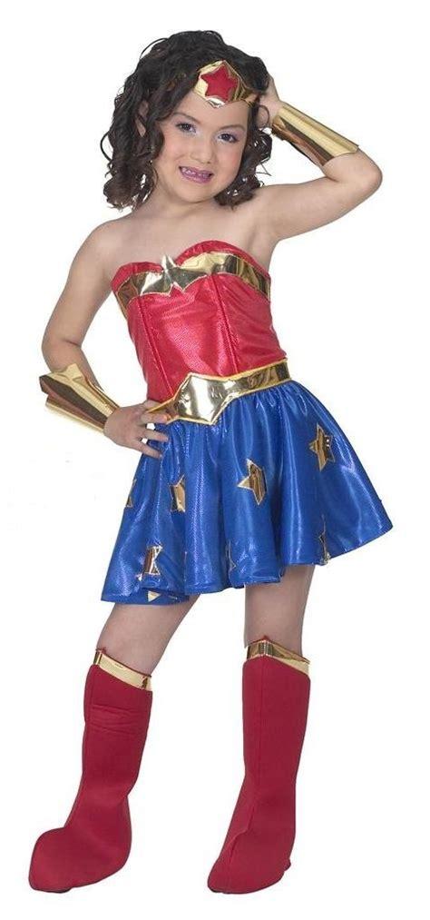 Disfraz De Lujo Mujer Maravilla Para Niña Superheroes ...