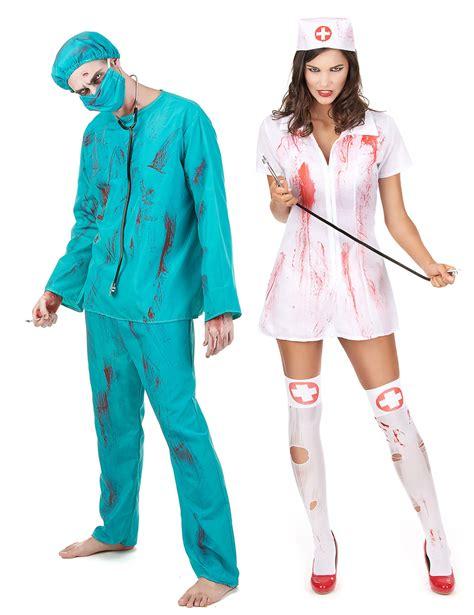 Disfraz de pareja zombie cirujano y enfermera Halloween ...