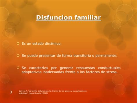 Disfunción familiar