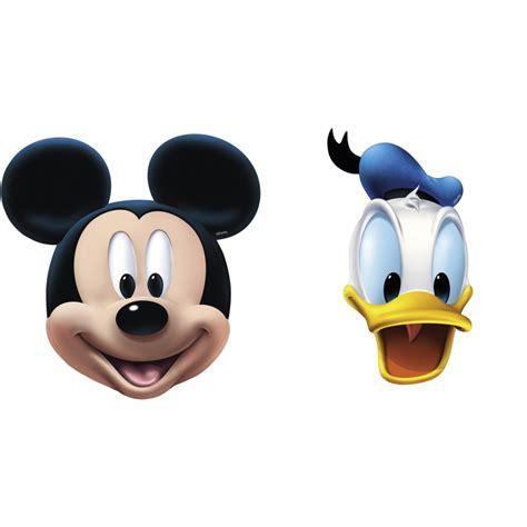 Disney Mickey Mouse & Donald Duck Face Masks, Amscan ...
