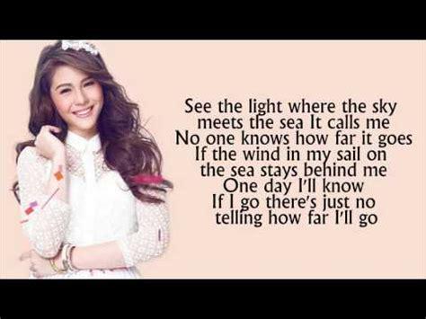Disney's Moana - How Far I'll Go Lyrics - Janella Salvador ...