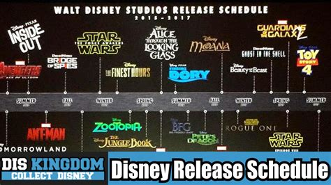 Disney's Movie Release Schedule for 2015 - 2016 Including ...