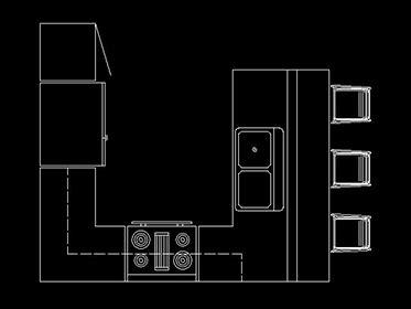 Distribución de Cocina - Bloque de mueble Autocad 2d ...