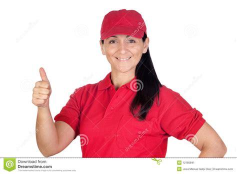 Distribuidor Autorizado Trigueno Con El Uniforme Rojo Que ...