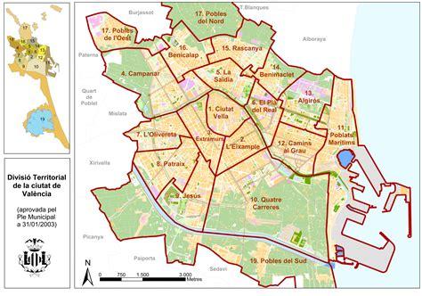 Distritos de la ciudad de Valencia   Tamaño completo