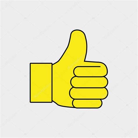 dito della mano pollice ok — Vettoriali Stock © yupiramos ...
