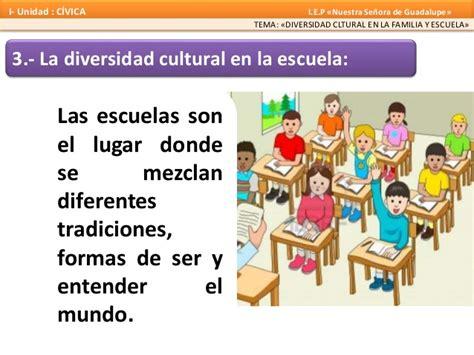 Diversidad cultural en la familia y la escuela