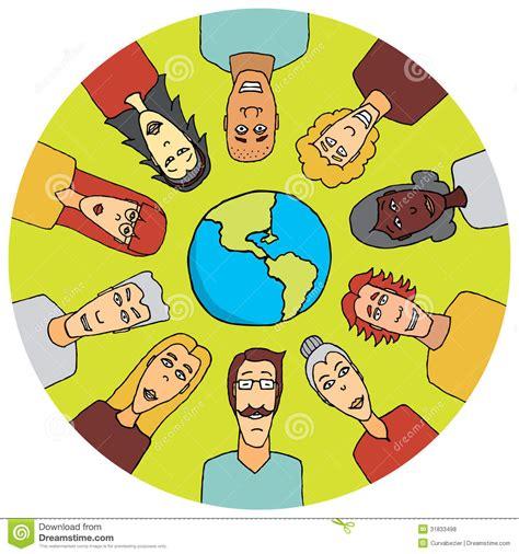 Diversidad en el mundo ilustración del vector. Ilustración ...