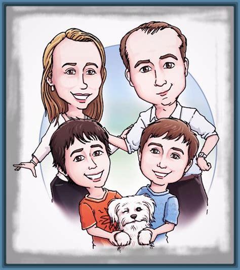 Divertida Imagen de la Familia en Caricatura   Imagenes de ...