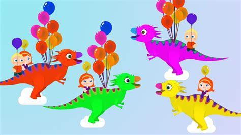 Divertidos coches y aprender colores dinosaurio globos ...
