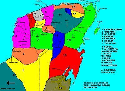 División de las jurisdicciones mayas en el S.XVI según ...