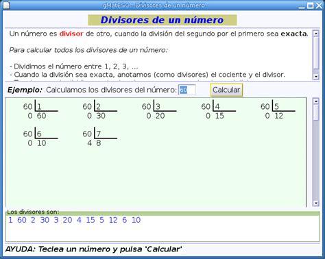 Divisores   matematicaswalter