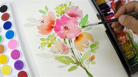 DIY Painting : Simple Flower Clipart - YouTube