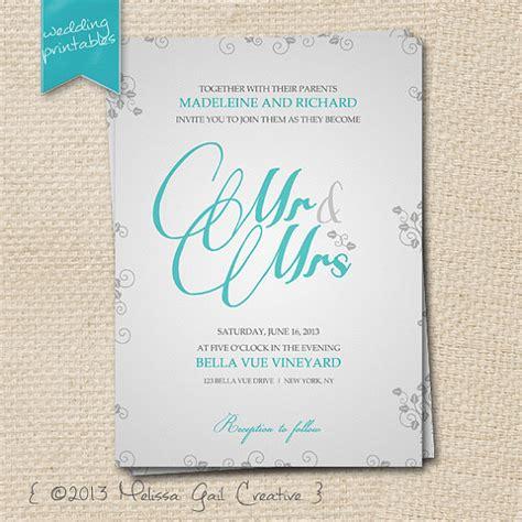DIY Printable Wedding Invitations | Emmaline Bride®