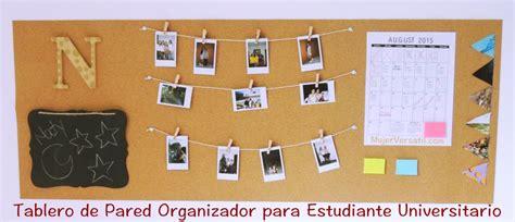 #DIY: Tablero Organizador de Pared para Universitarios y ...