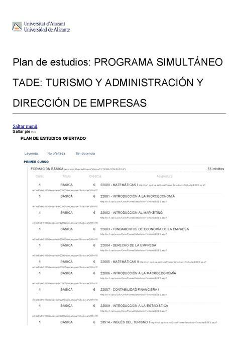 Doble grado en turismo ade universidad de alicante by ...