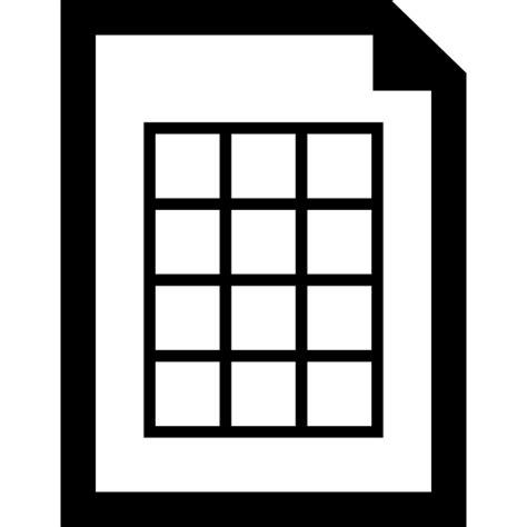 Documento con tabla   Iconos gratis de interfaz